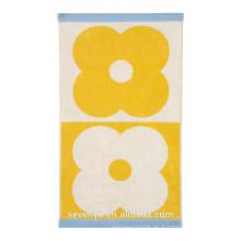 Toalla Spot Domino de flores - Amarillo - Toalla de mano, Toalla de baño Ht-062