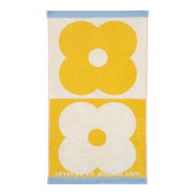 Spot Flower Domino Towel - Yellow - Hand Towel,Bath Towel Ht-062
