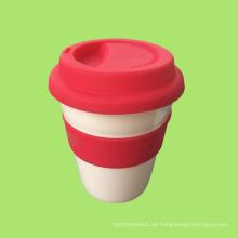 330ml Plastikkaffeetasse, Kaffeetasse, Plastikkaffeetasse mit Silikondeckel