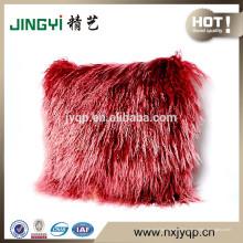 Mystérieux cheveux longs Tibétain Coussin en fourrure d'agneau