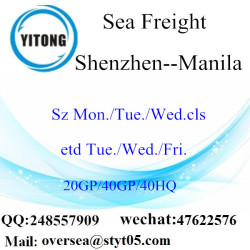 Shenzhen Port Sea Freight Shipping To Manila