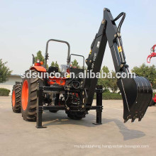 Farm Tractor with cabin+Backhoe Loader
