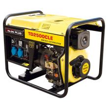 Générateur Diesel 2 KVA / 2 Kw Démarreur Electrique Prix Générateur Diesel (TD2500CLE)