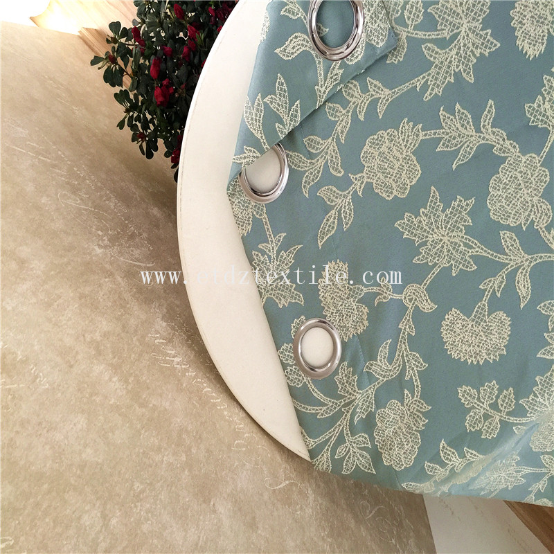 Popular Jacquard Window and Shower Curtain GF029 Water Blue