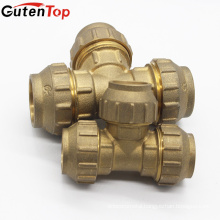 GutenTop High Quality Brass Compression Fittings of Equal Tee for Pex-Al-Pex Pipes