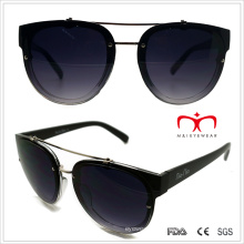 Plastic Unisex Sunglasses with Metal Decoration (WSP508281)