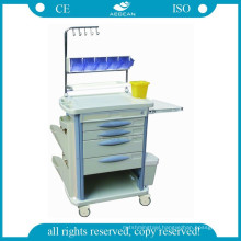 AG-NT004B3 CE furniture abs emergency plastic hospital nursing clinical carts