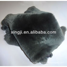 Dyed grey color rex rabbit skin for garment rex skin