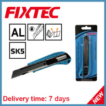 Fixtec 18mm Aluminium-Alloy Snap-off Blade Knife with TPR Grip