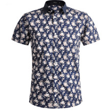 Men's flower printed short sleeve shirt