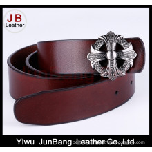 Fashion Men′s Leather Belt with Plain Buckle