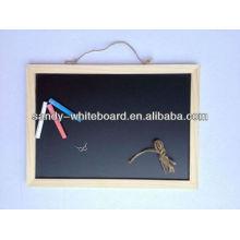 Panneau en bois, planche à craie panneau magnétique noir