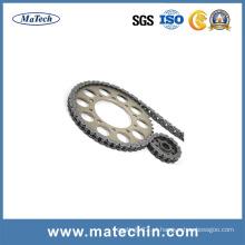 Forjamentos para peças de motocicleta Corrente de transmissão de motocicleta e roda dentada