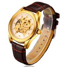 Nouvelle montre mécanique de style de 2016, montre en acier inoxydable de mode Hl-Bg-092
