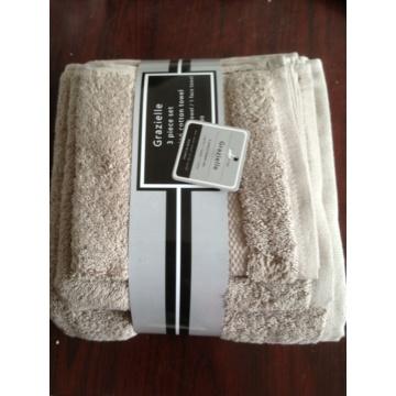 Conjunto de toalhas embaladas de algodão 100% algodão