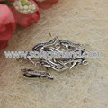 20*10MM Antique Silver High Heel Shoe Craft Charms Pendants