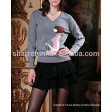 2014 personalizados muchos estilos de lujo 100% puro suéteres de intarsia de cachemira