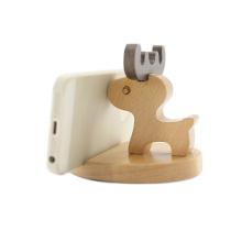 FQ marca pop mão de madeira inteligente celular titular do telefone celular