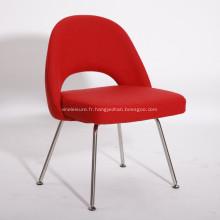 Chaises de salle à manger en tissu rouge contemporain