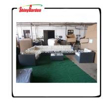 L geformte Rattansofa stellt, Rattanuxuxsofas-Gartenmöbel, benutztes Rattansofa für Verkauf ein