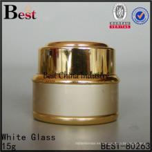 vaciar el tarro de aluminio 10g, envase cosmético metálico de la crema del cuidado de la piel del color oro
