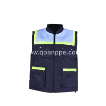 navy blue vest with pockets top quality