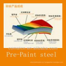 Produção de bobinas de aço galvanizadas pré-pintadas,