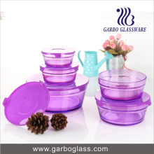 5PCS Colred Sprayed Bowl de cristal GB1402-P determinado