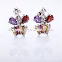 Brides plaqué or boucles d'oreilles pierres précieuses plaqué zircon bijoux rhodié bijoux est votre bonne sélection