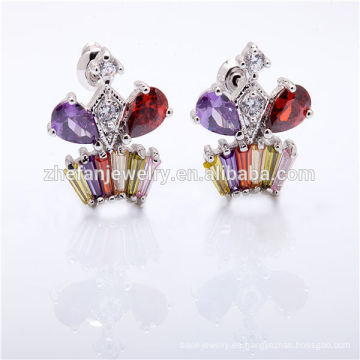 brides joyas de oro pendiente plateado zircon joyas joyas rodio plateado es su buena elección
