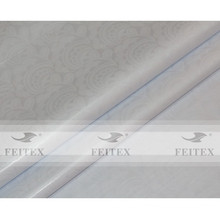 FEITEX jacquard de couleur blanche textile africain damassé 100% coton brocade de Guinée
