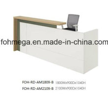 Top MFC White Reception Desk Front Desk for Office (FOH-RD-AM1809)