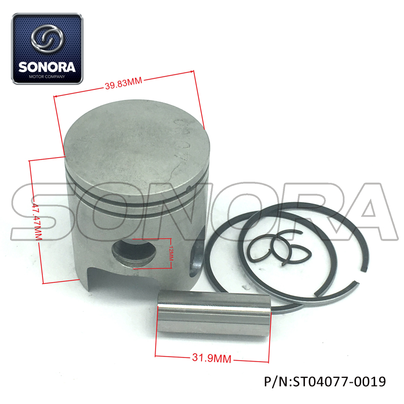 ST04077-0019 Piston kit for YAMAHA DT50 40MM (1)