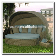 Audu Outdoor Wicker Round King Size Bed