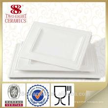 Wholesale vaisselle en céramique, accessoire de l'hôtel en céramique blanche palette