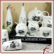 Porcelana de cerâmica durável conjunto de jantar de cerâmica