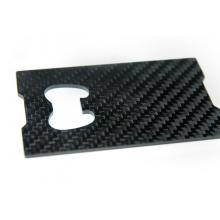 Carbon fiber bottle opener with square shape