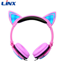 Linx LED Light Cat Ear Headphone Shenzhen casque