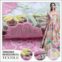 China factory High quality beautiful Poly water soluble mesh embroidery fabric