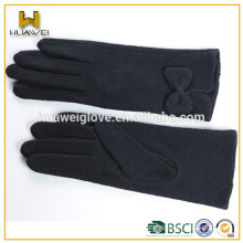 Women winter dresses sheep wool gloves lady wool knitted glove