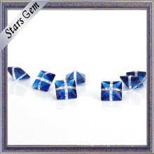 Synthetic Glamour Mixed Color Blue and White Glass