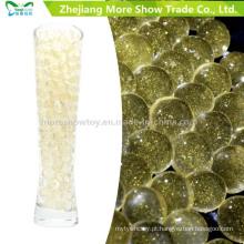 Cor dourada Glitter Cristal Soil Gel de Água Beads Decoração Do Casamento