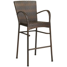 Outdoor Rattan Patio Furniture Garden Wicker Bar Stool Set