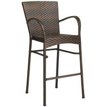 Открытый ротанга Патио мебель сад плетеные бар стул набор