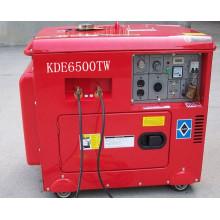 AC monophasé 5kw / DC 180A démarrage clé double utilisation Silent Diesel Générateur Soudeur (5KW diesel soudeur)