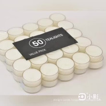 customized logo 50pcs pack pc cup scented  multi-colored tealight candle