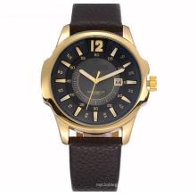 Genuine Leather Strap Fashion Man Wrist Watch -OEM