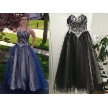 Платье для балла в виде сердца длина до пола тюль кружева платье для выпускного вечера с бисер блестками