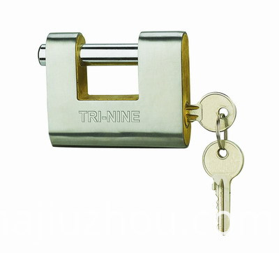 Security Stainless steel Armored Rectangle Padlock