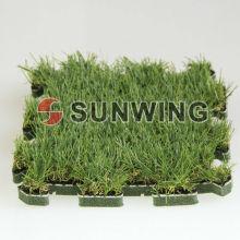 Ineinander greifen der künstlichen Gras-Puzzlespiel-Matten-Fliese für Verschönerung im Freien DIY